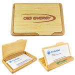 Custom 2-Way Bamboo Name Card Holder