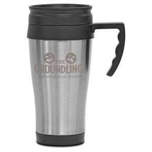 14 Oz. Steel City Travel Mug with Plastic Liner - Laser Etched