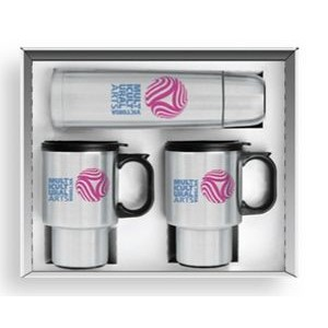 3 Piece Steel City Beverage Set w/ 1/2 Liter Thermos