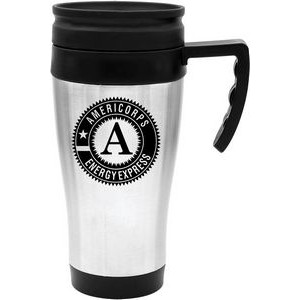 14 Oz. Steel City Travel Mug with Plastic Liner
