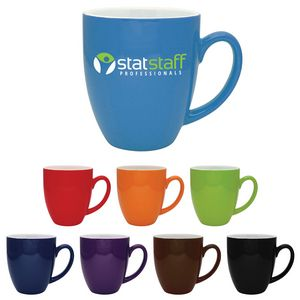 16 Oz. Duo-Tone Bistro Collection Ceramic Mug