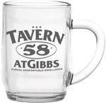 Custom 10 Oz. Haworth Glass Coffee Mug