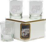 Custom Premium Set Of 4 DOF Glasses- Etched