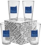 Custom Thank You Set of 4 Mixing Glasses