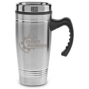 18 Oz. Stainless Steel Mug with Plastic Liner - Laser Etched