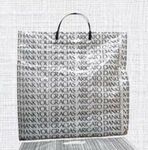 Custom White Plastic 1.5 Mil Shopping Bag W/ Patch Handle 9