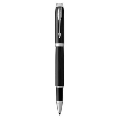 Parker IM Black Lacquer with Chrome Trim Rollerball Pen