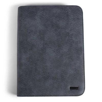 Bugatti Blue Leather Ring Binder