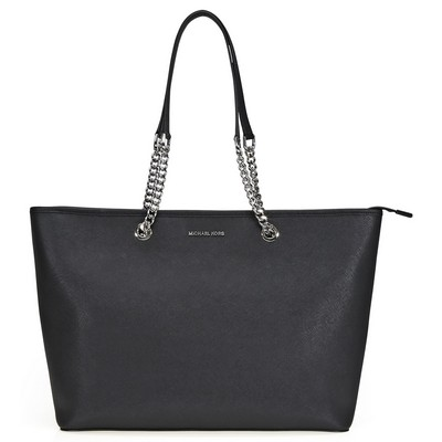 MICHAEL Michael Kors Jet Set Travel Chain Saffiano Leather Tote Black