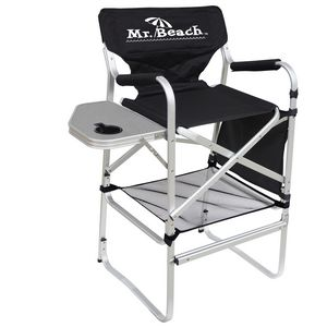 bar height director chair w folding side table 2060 ideastage promotional products. Black Bedroom Furniture Sets. Home Design Ideas