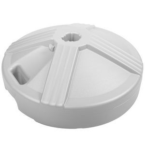 "US Made 16"" Dia. x 6"" Tall 45 lb. Plastic Exterior Concrete Weighted Umbrella Base w/Carry Handle"