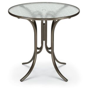 us made 42 round bar height glass top table w folding