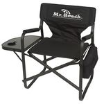 Custom Director Chair with Table & Removable Wine Bottle and Can Cooler