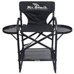 Custom Bar Height Director Chair with Removable Double Layer Back & Folding Side Table
