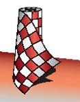 Custom Red & White - Race Track Polyethylene 2 Mil Bunting 18