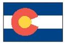 Custom 2'x3' Colorado State Nylon Outdoor Flag - Style A