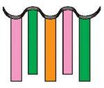 Custom 60' Stripers Rectangle Panels Pennant String