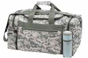 Digital Camouflage Duffle Bag w/ Adjustable & Removable Shoulder Strap - Small