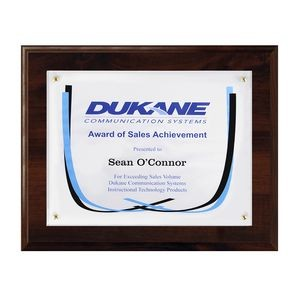 "Certificate/Overlay Walnut Finish Plaque for 8"" x 6"" Insert with Gift Box"