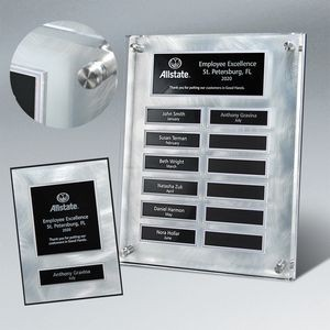 Raised Lucite Silver Swirl 12-Plt Plaque Package Easy Perpetual with Companion Plaques
