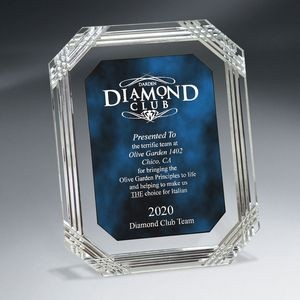 Blue Diamond Carved Octagon Plaque