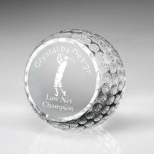 Flat-Front Crystal Golf Ball
