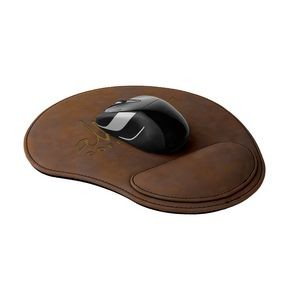 Leatherette Mouse Pad - Rustic/Gold