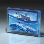 Custom Lucite Infusion Embedded Imprint Award (6