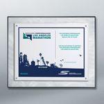 Custom Metal Swirl Certificate Plaque