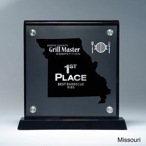 Frosted Lucite MO State Cutout on Risers Award