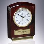 Custom Rosewood Piano Wood Roman Numeral Clock Award