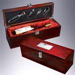 Custom Rosewood Piano Finish 5 Piece Wine Case Gift Set
