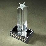 Custom Small Single Star Award w/ Marble Base