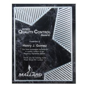 Grooved Brilliance Acrylic Plaque - Black