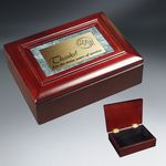 Custom Rosewood Piano Wood and Marble Gift Box