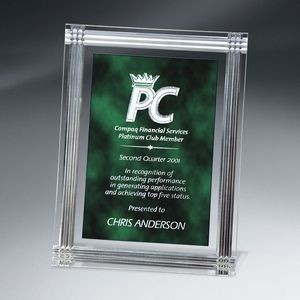 Green Diamond Carved Rectangle Plaque
