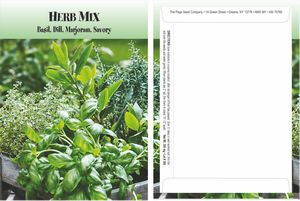 Custom Standard Series Herb Mix Seed Packet - Digital Print /Packet Back Imprint