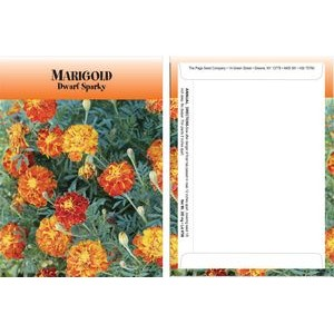 Standard Series Marigold Sparky Seed Packet - Digital Print /Packet Back Imprint