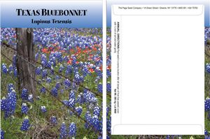 Custom Standard Series Texas Bluebonnet Seed Packet - Digital Print /Packet Back Imprint