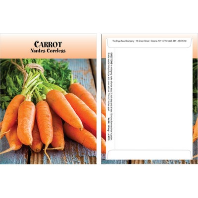 Standard Series Carrot Seed Packet - Digital Print /Packet Back Imprint