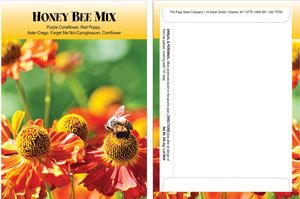 Custom Standard Series Honey Bee Seed Mix-Digital Print on Back of Packet
