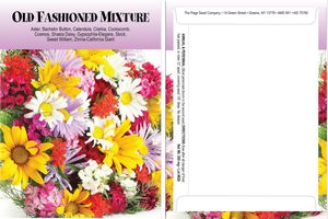 Custom Standard Series Old Fashion Mix Seed Packet - Digital Print/Packet Back Imprint