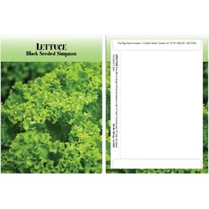 Standard Series Lettuce Seed Packet - Digital Print/Packet Back Imprint