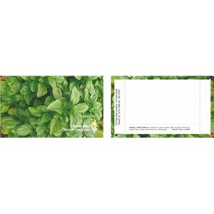 Business Card Series Basil Flower Seeds- One color imprint - back of packet