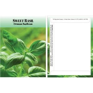 Standard Series Sweet Basil Seed Packet - Digital Print/Packet Back Imprint
