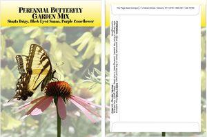 Custom Standard Series Butterfly Seed Packet - Digital Print /Packet Back Imprint