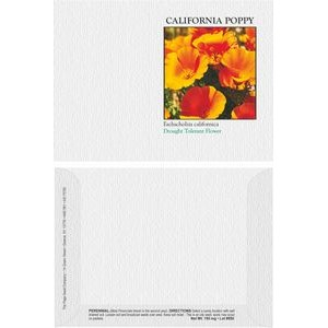 Impression Series California Poppy Flower Seeds - Digital Print/ Front & Back Imprint