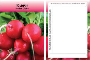 Custom Standard Series Radish Seeds - Digital Print/Packet Back Imprint