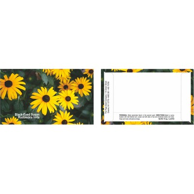Business Card Series Black Eyed Susan Flower Seeds- 1 color imprint back of packet