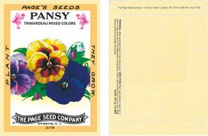 Custom Antique Series Pansy Seeds - Digital Print/ Packet Back Imprint